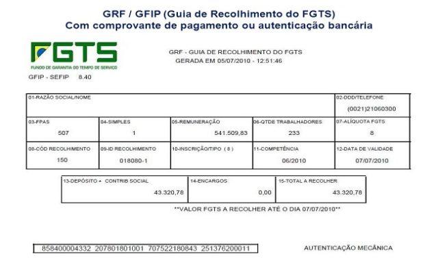 guia grf - fgts consultoria terceirização serviço em porto alegre